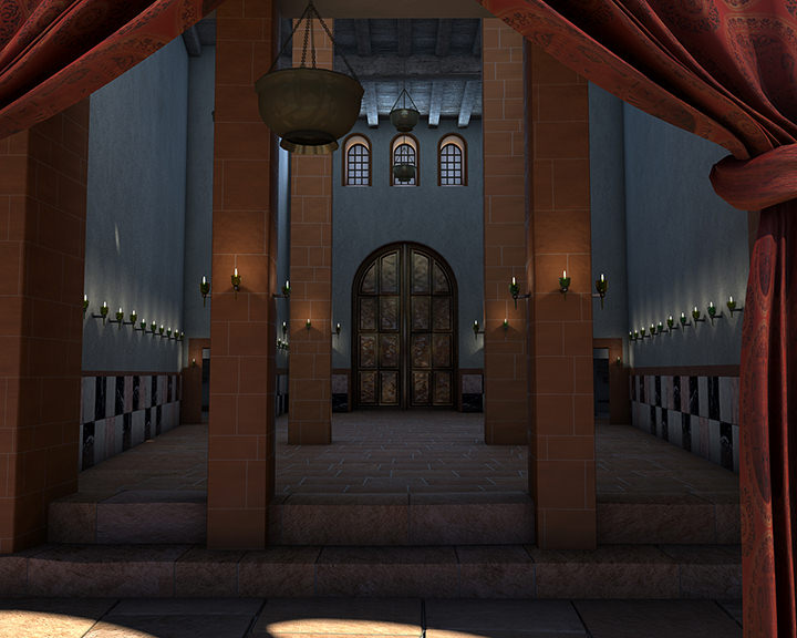 Rekonstruktion Säulenhalle