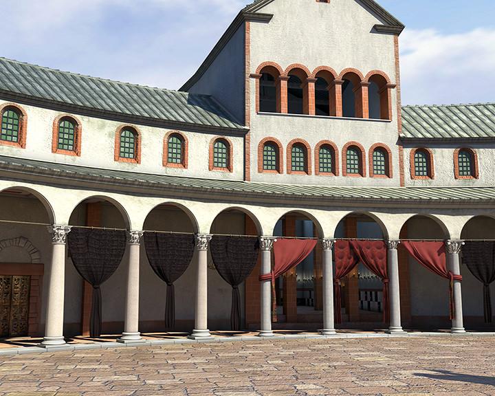 Rekonstruktion Heidesheimer Tor innen